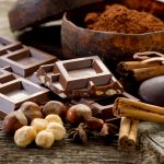 Festive foods - chocolate with ingredients