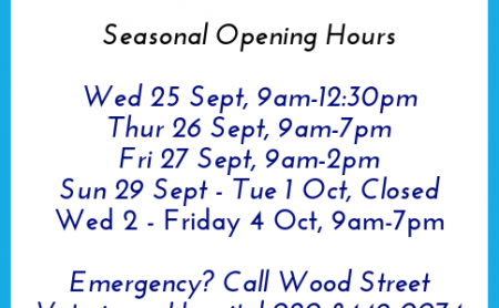 Seasonal Opening Hours